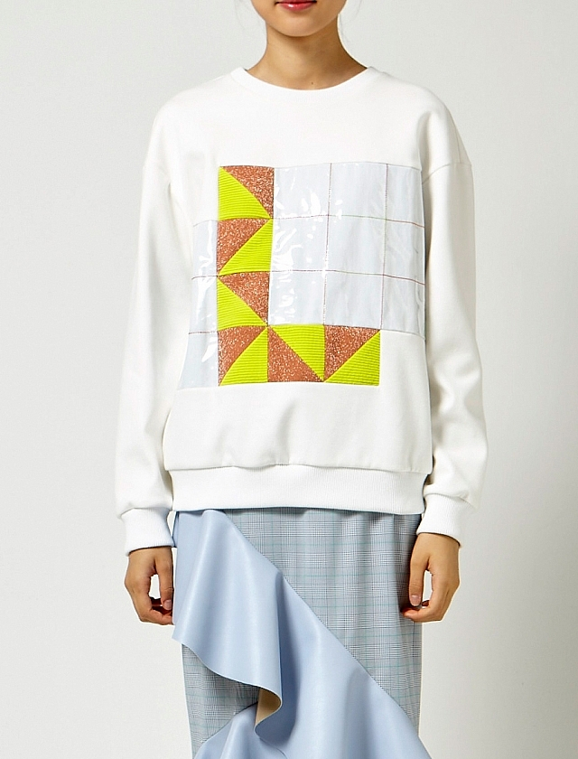 L Graphic Cotton Sweatshirt