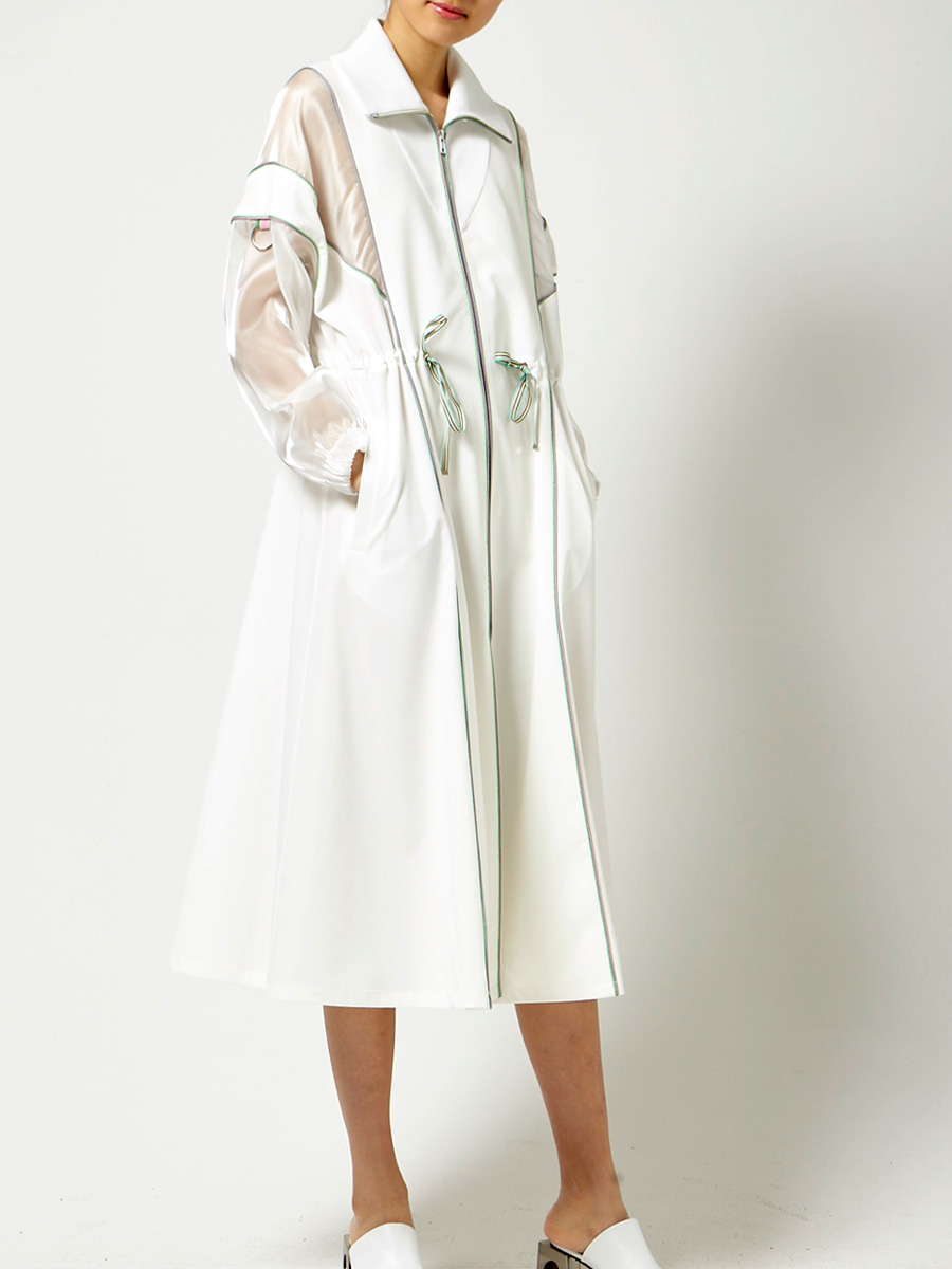 White long overcoat